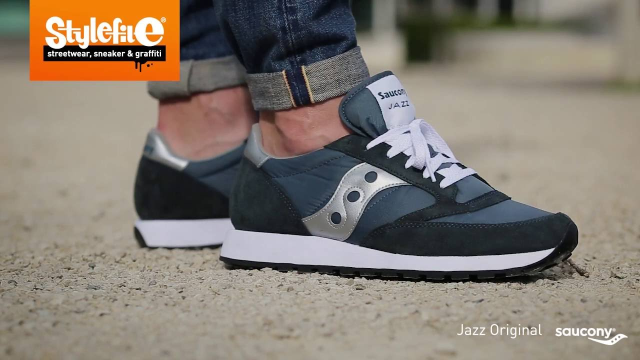 hot sale online c62a0 54fa8 Saucony Jazz Original Sneaker blue silver (On-Feet) @Stylefile