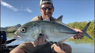 BIGEYE TREVALLY in the Mangroves New Caledonia Westin W3 Fishing Rod