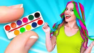 حيل طريفة لتسهيل حياتك! || خدع عامرة بالألوان