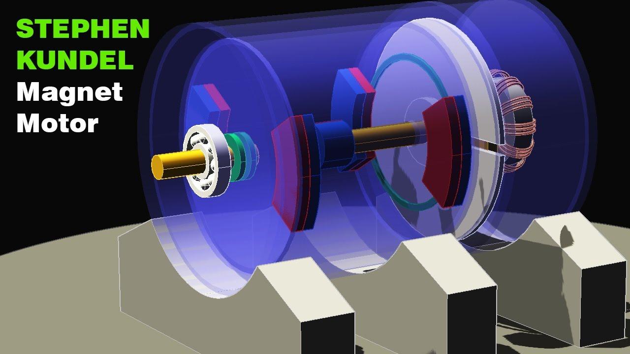 Free Energy Generator Stephen Kundel Permanent Magnet Motor Magnetic Motor Youtube