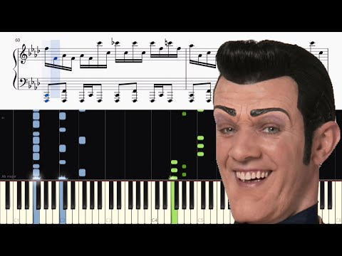 Lazy Town - We are Number One - ADVANCED Piano Tutorial //John Yang