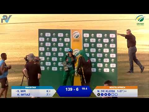 Women's Cricket - SA vs PAK 3rd T20I - Live from Pietermaritzburg