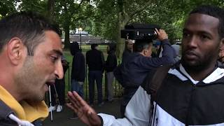 Speakers Corner - Anser & Atheists discuss Islamic punishments with Muslims