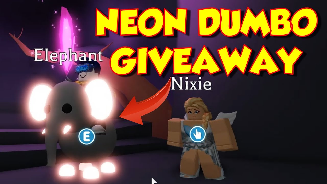 ROBLOX Adopt Me Update - NEON PETS - Rideable Dumbo Giveaway - Pet