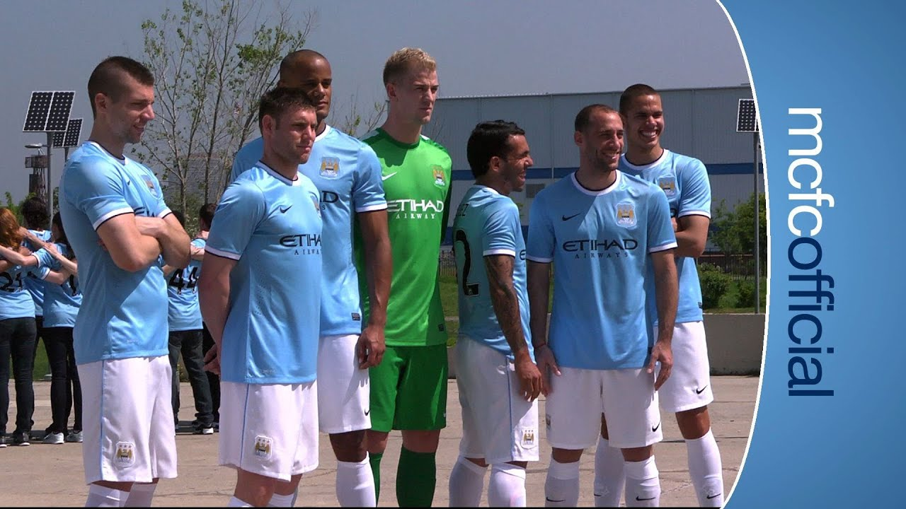 mcfc new nike home kit launch 2013 14 youtube. Black Bedroom Furniture Sets. Home Design Ideas