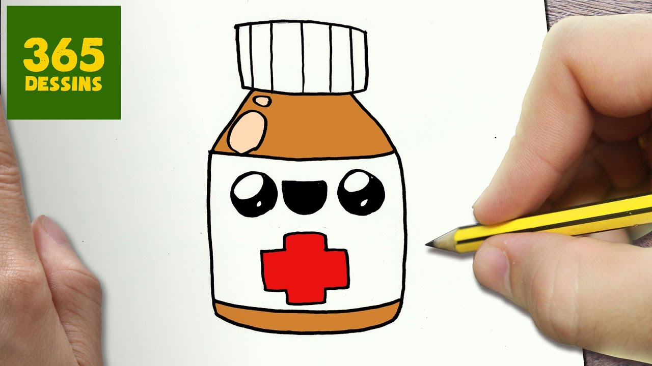 COMMENT DESSINER MEDECINE KAWAII ÉTAPE PAR ÉTAPE \u2013 Dessins kawaii facile