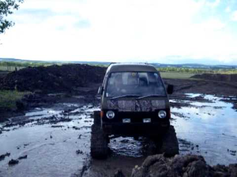 Tracks For Vehicles >> Mini Truck with Tracks Playing in Mud/Dirt Hills - YouTube