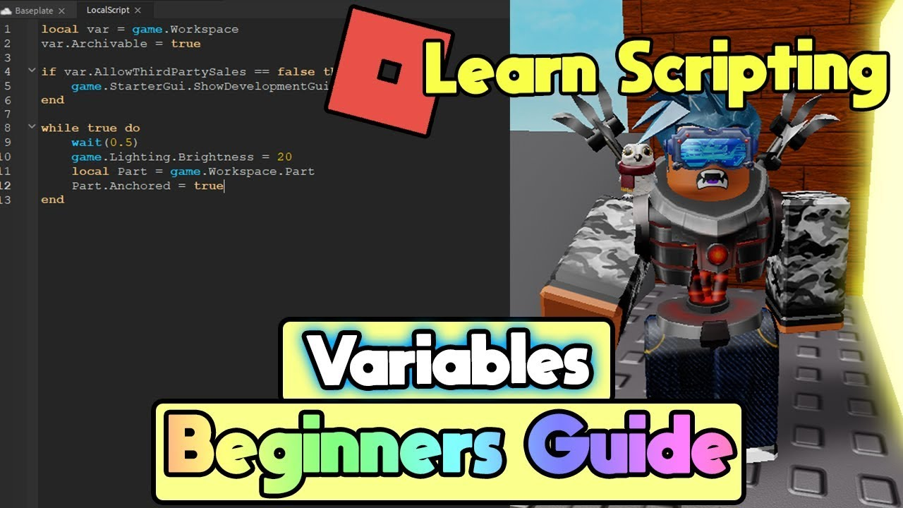 📜 Roblox Beginners Scripting Guide 2019   Create A Game - Variables [Part  2]