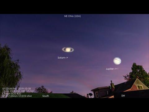 Jupiter & Saturn In The Mucky Ohio Sky