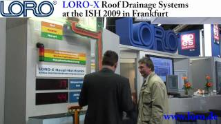 LORO-X Roof Drainage Systems at the ISH 2009 in Frankfurt/Germany