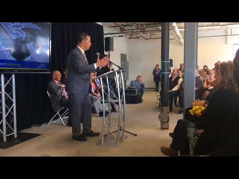 Mayor David Narkewicz speaks at opening of Live 155 apartments in Northampton
