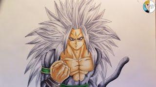 Drawing Goku SSJ5 from Dragonball AF || D.V