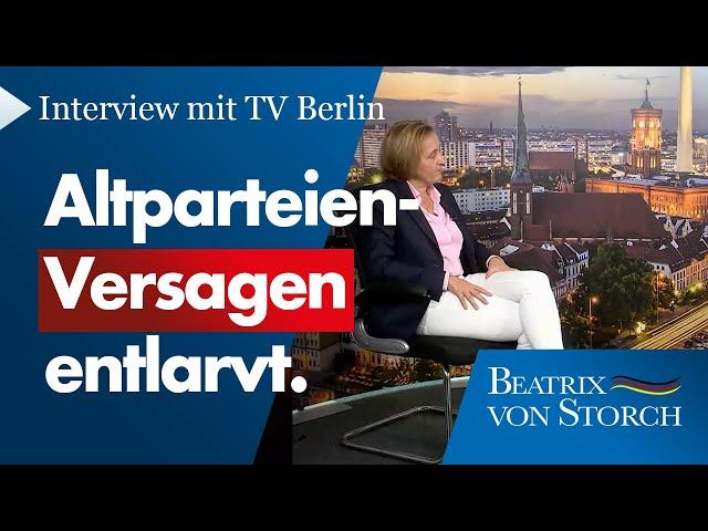 Beatrix von Storch (AfD) - Interview mit TV Berlin - Deutschland braucht die AfD!