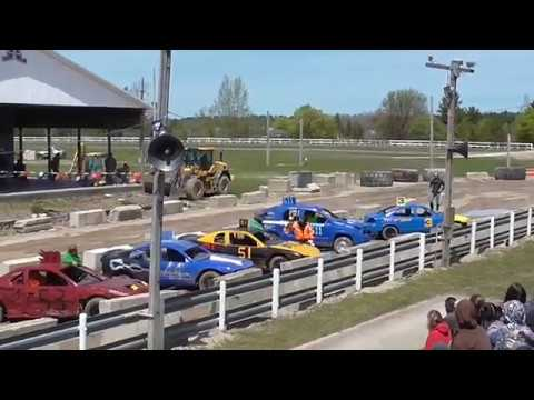 Bump And Run Racing!! Alpena County Fair Grounds 2017!! Spring Alpena Michigan!!