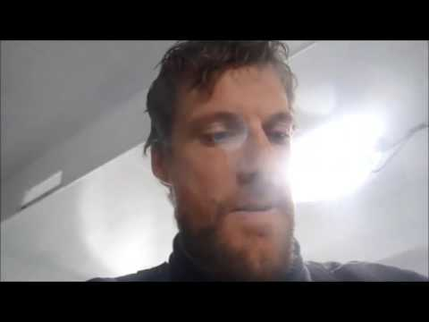 Paul Meilhat after crash with OFNI during Vendée Globe 2016-2017