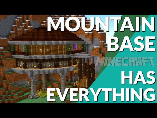 Minecraft How To Make A Mountain House In Minecraft Minecraft Base Tutorial Avomance 2019 Youtube
