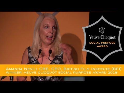 Veuve Cliquot Social Purpose Award 2018 Winner - Amanda Nevill CBE, CEO, British Film Institute