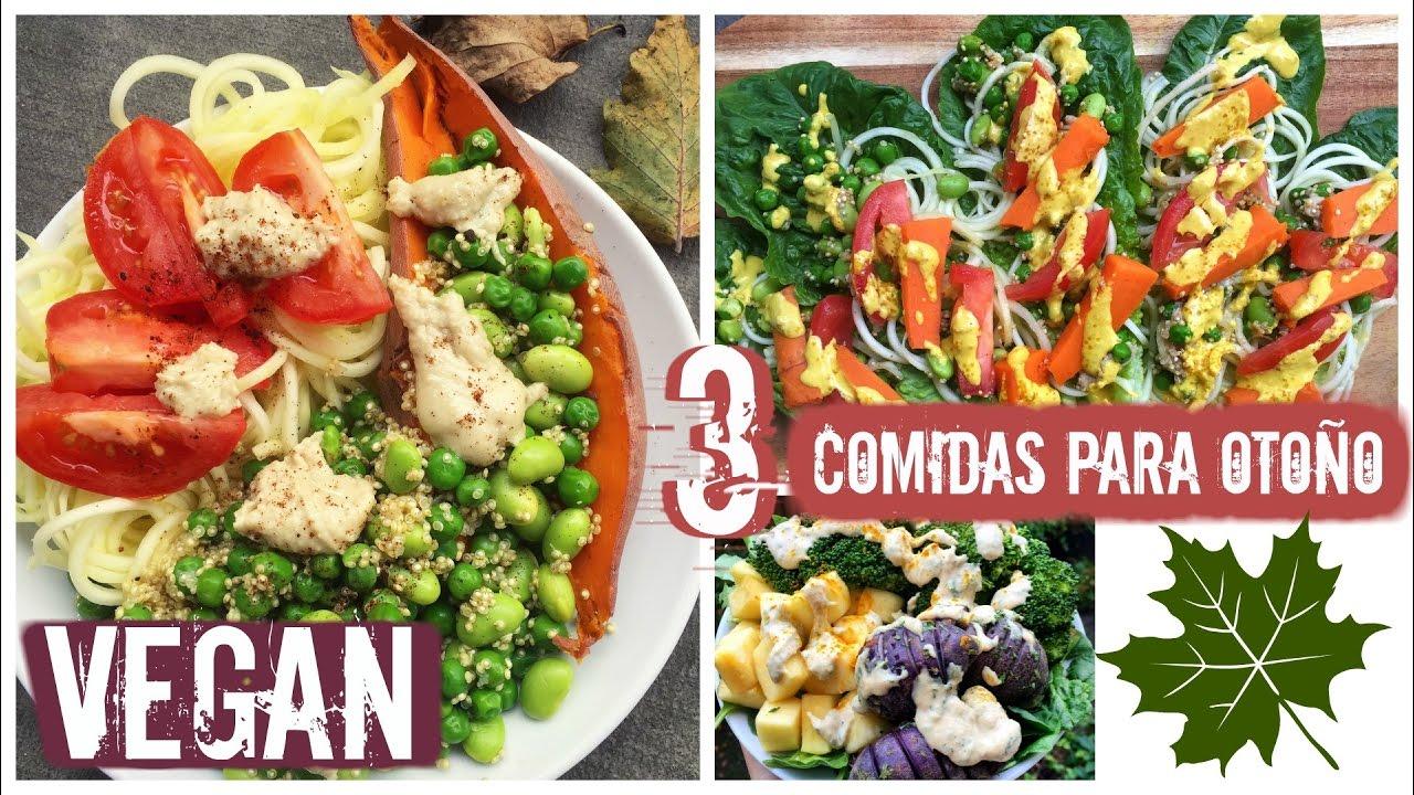 3 comidas veganas para oto o f cil y saludable youtube