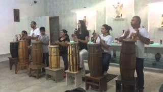 Aula de Curimba e Canto. Realizada em 23/04/2015