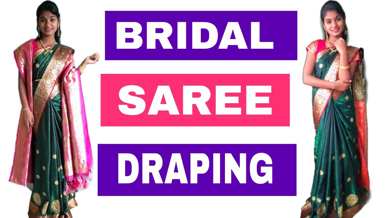 #Bridal saree draping / #very easy method for heavy saree / #banarasi silk saree draping #sareedrape