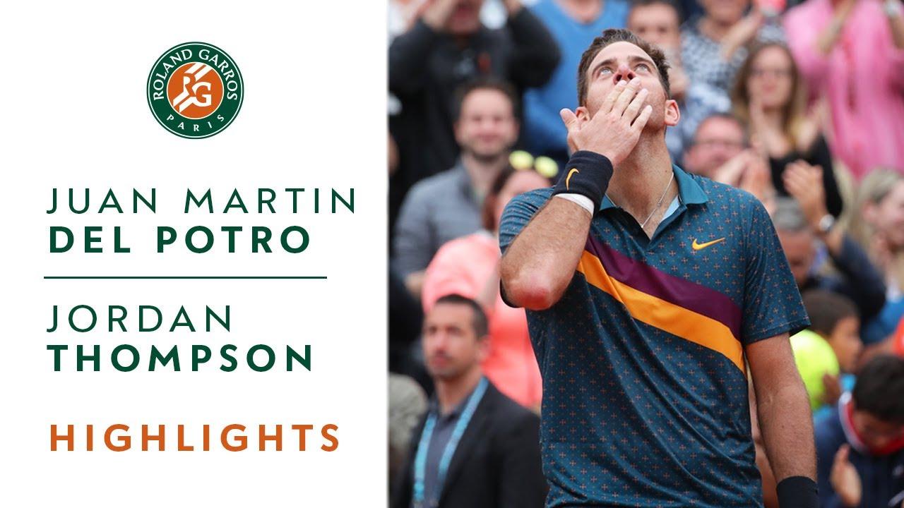 Juan Martin Del Potro vs Jordan Thompson - Round 3 Highlights | Roland Garros 2019