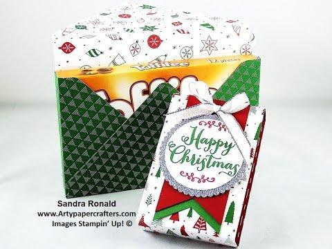 Envelope Punch Board Gift Box for Toffifee - SandraR Stampin' Up! Demonstrator Independent