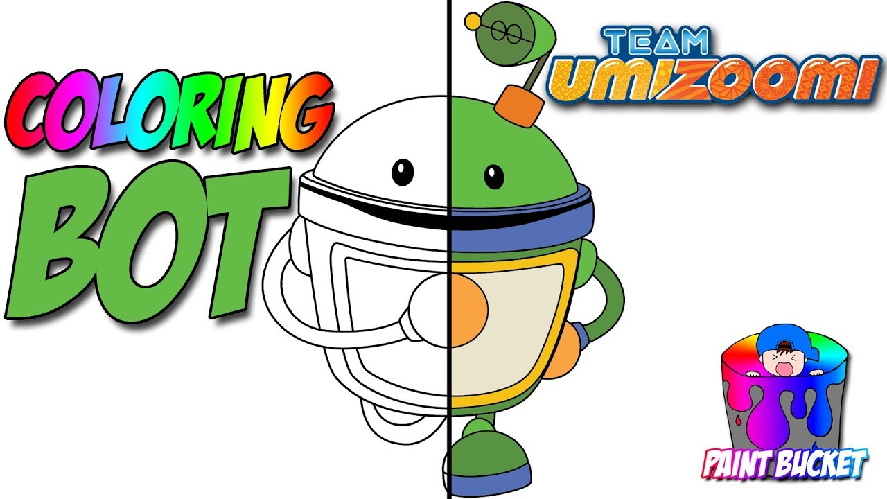 How to Color Team Umizoomi Bot Coloring Page - Nickelodeon Nick Jr ...
