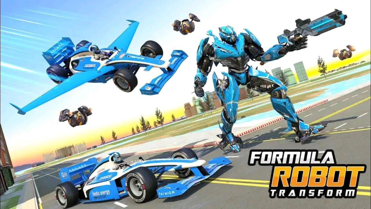Mobil Balap Formula Berubah Jadi Robot Perang Formula Car Robot Transform Android Gameplay Youtube