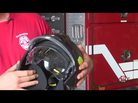 De Queen Firefighters First In State To Use European-style Helmets