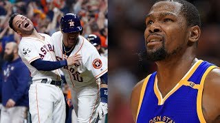 Kevin Durant Gets TROLLED Over Astros 2017 World Series Win