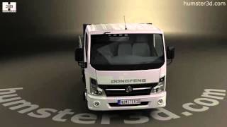 Dongfeng DF Flatbed Truck 2012 3D model by Humster3D.com