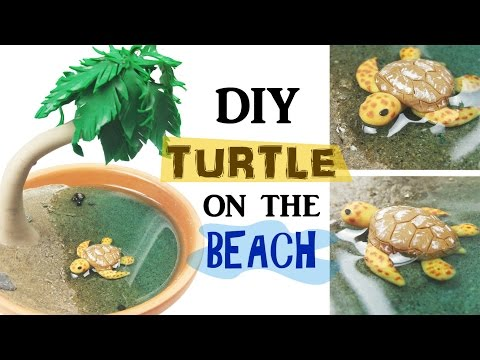 DIY MINIATURE SEA TURTLE ENVIRONMENT Resin & Polymer Clay Tutorial