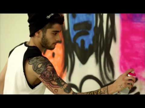 One Direction - 1DDAY - Zayn Spray Painting Video