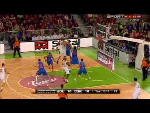 Union Olimpija : CSKA Moscow     81 - 72 (Highlights 15.12.2010)