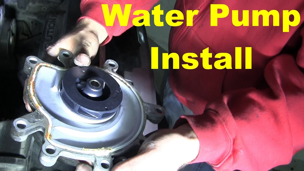 water pump replacement jeep liberty cherokee nitro dodge chrysler [ 1280 x 720 Pixel ]