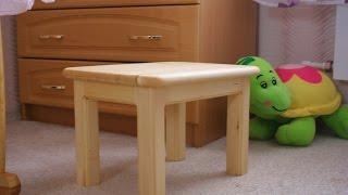 Как сделать деревянную детскую скамейку своими руками.