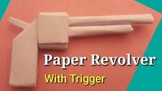 Make paper pistol - paper gun - origami revolver - easy origami