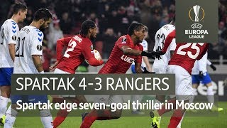 Spartak Moscow vs Rangers (4-3) | UEFA Europa League Highlights