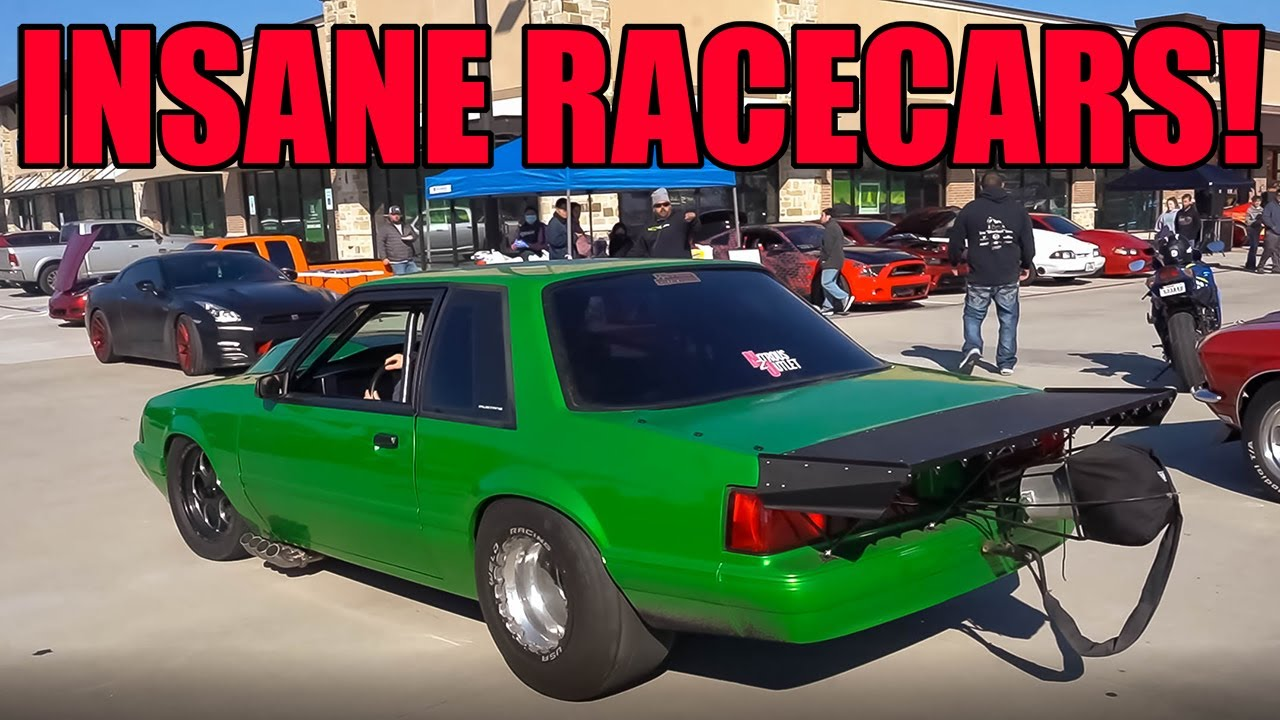 INSANE RACECARS SHUT DOWN CARS AND COFFEE! (Racecar Couple Goals!)