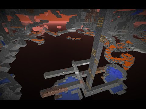 Minecraft Ocean Monument, Prelude: Mining straight down