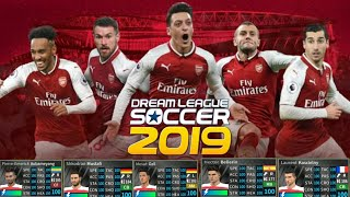 How To Back Kits Arsenal Team 2019/( All 100 Player) Dream League Soccer 2019