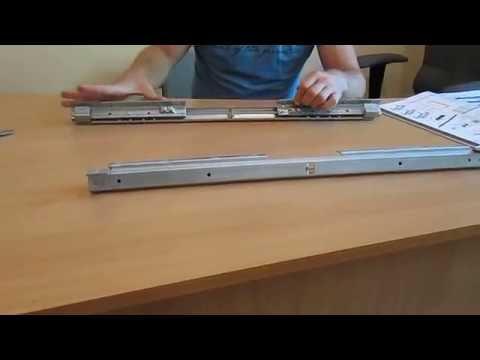 Фурнитура раздвижного стола - синхронный механизм