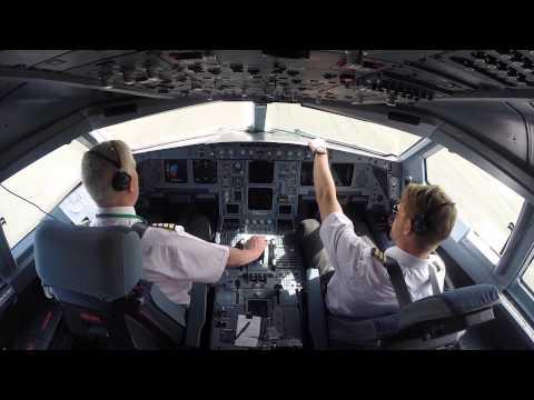 Aer Lingus Cockpit Video   Dublin to Washington   Inaugural IAD Flight