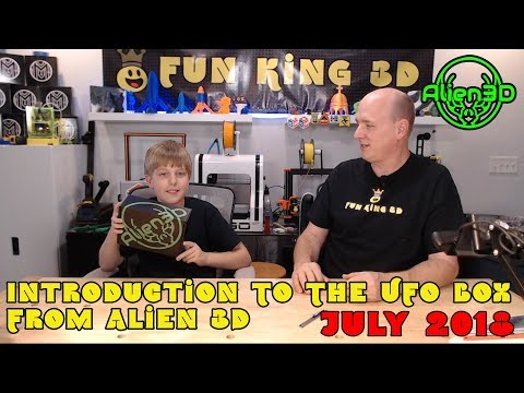 Introducing the Alien 3d UFO Box (July 2018 Box Unboxing)