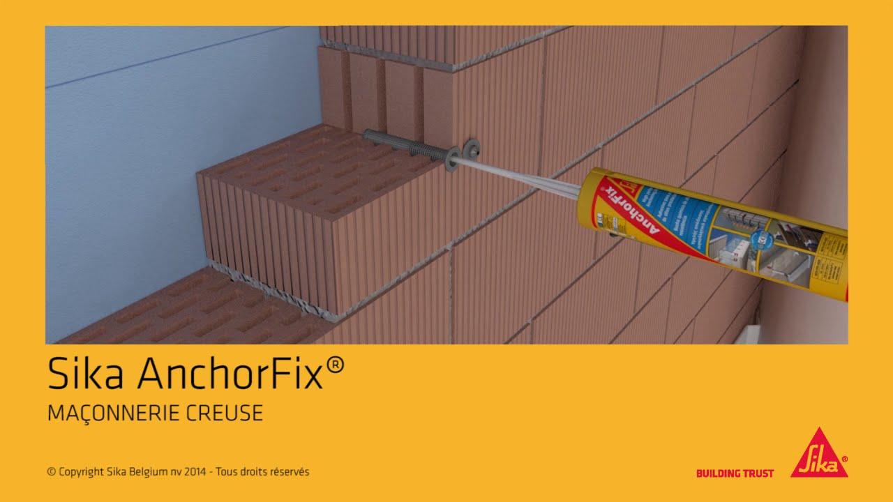 sika anchorfix 1 dans ma onnerie creuse solutions pour tous vos ancrages youtube. Black Bedroom Furniture Sets. Home Design Ideas