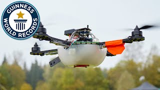 Drone display sets world record for most UAVs airborne simultaneously