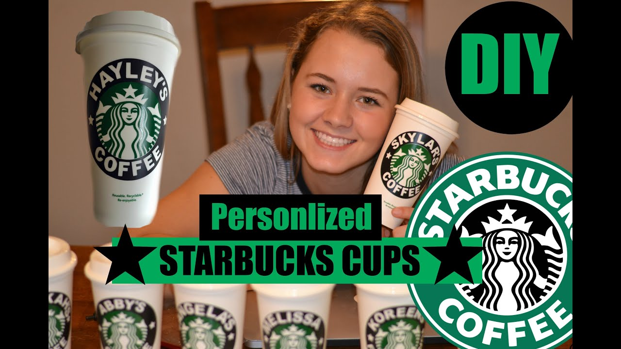Diy Personlized Starbucks Cups Youtube