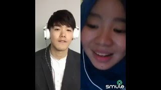 Video Eric Nam feat Indonesian Hijab Girl on SMULE - 천국의 문  (Heaven's Door) Cover download MP3, 3GP, MP4, WEBM, AVI, FLV Desember 2017
