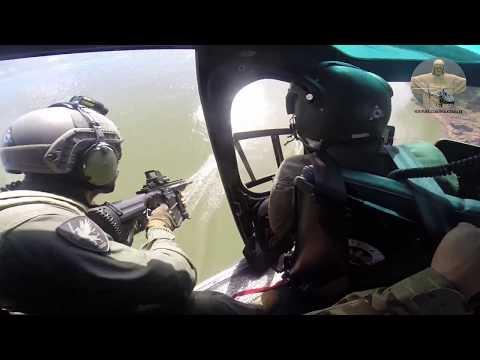 Policia Federal abordagem com Helicóptero (Nepom) Police Brazil