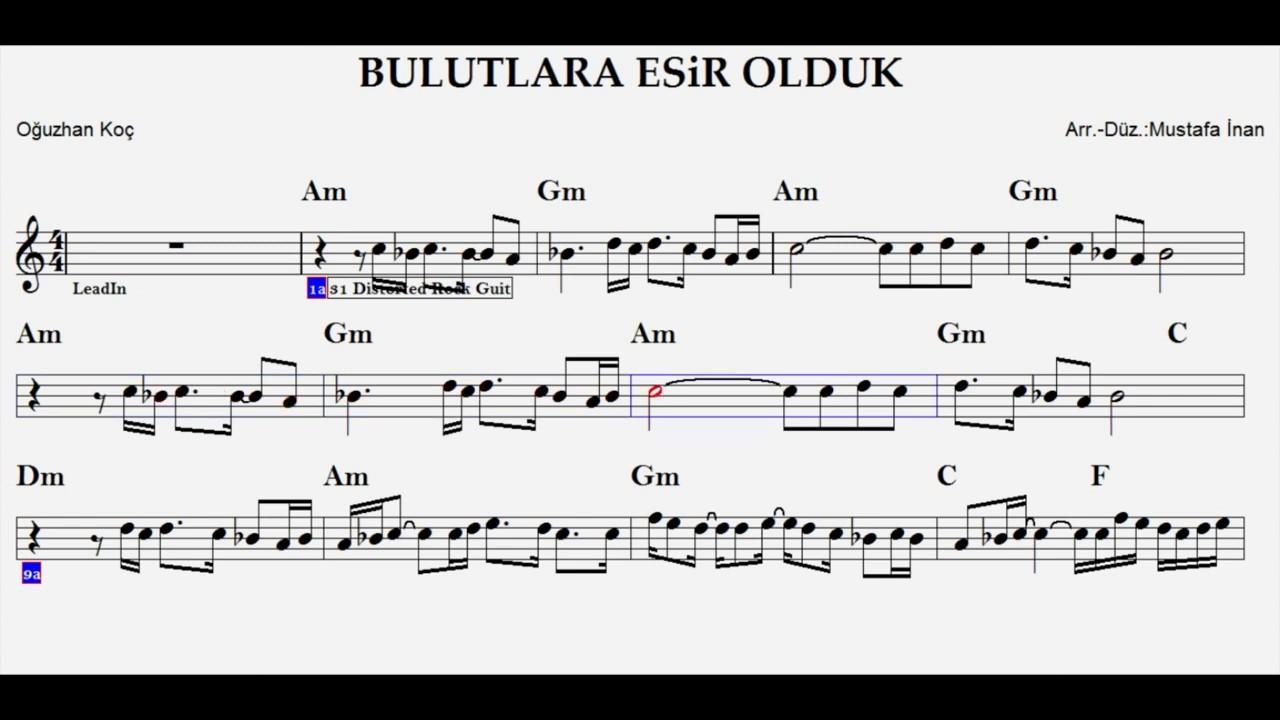 Bulutlara Esir Olduk Am Play Along Guitar Flute Violin Keyboard Melodica Youtube
